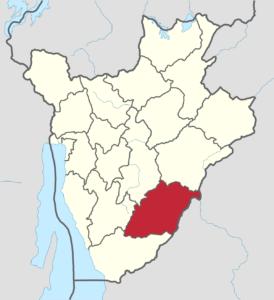 Provincia de Rutana en Burundi